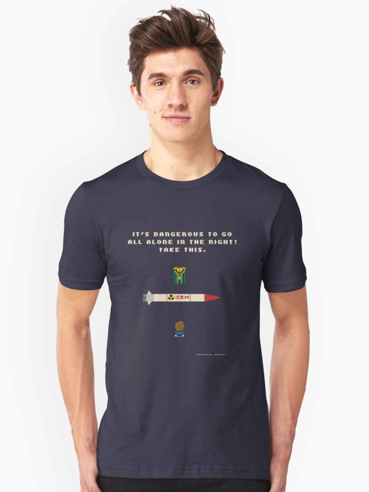 It's Dangerous to Go All Alone in the Night! Unisex T-Shirt Front