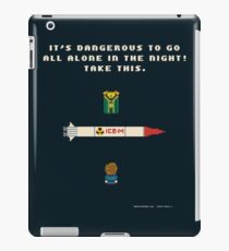 It's Dangerous to Go All Alone in the Night! iPad Case/Skin