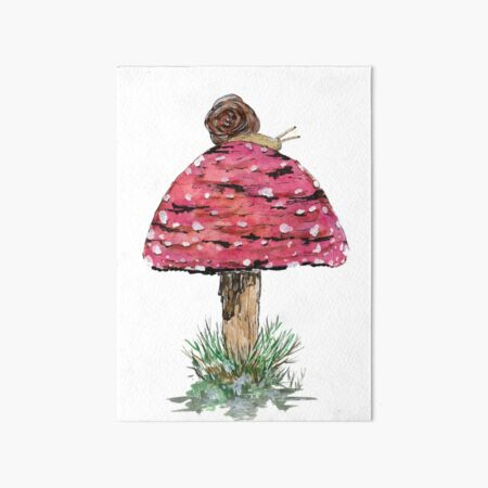Trippy Mushroom Art Rainbow Amanita Mushroom Stoner Art Watercolor Painting Print Pride Art Fly Agaric