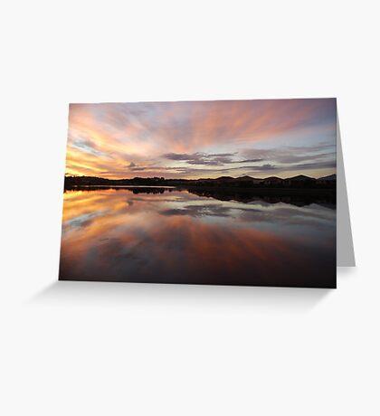 Livin' with Flair on Lake Kimberley Greeting Card