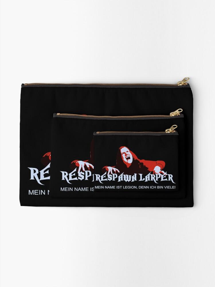 Alternate view of RespawnLARPer - My name is Legion Zipper Pouch