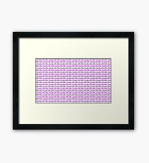 Brazilian Jiu Jitsu Purple  Framed Print