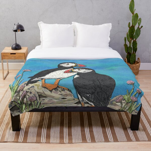 Puffin Perfection Throw Blanket