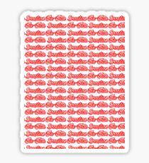 Brazilian Jiu Jitsu Red  Sticker