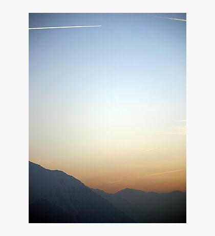 Swiss Alps Sunset Photographic Print