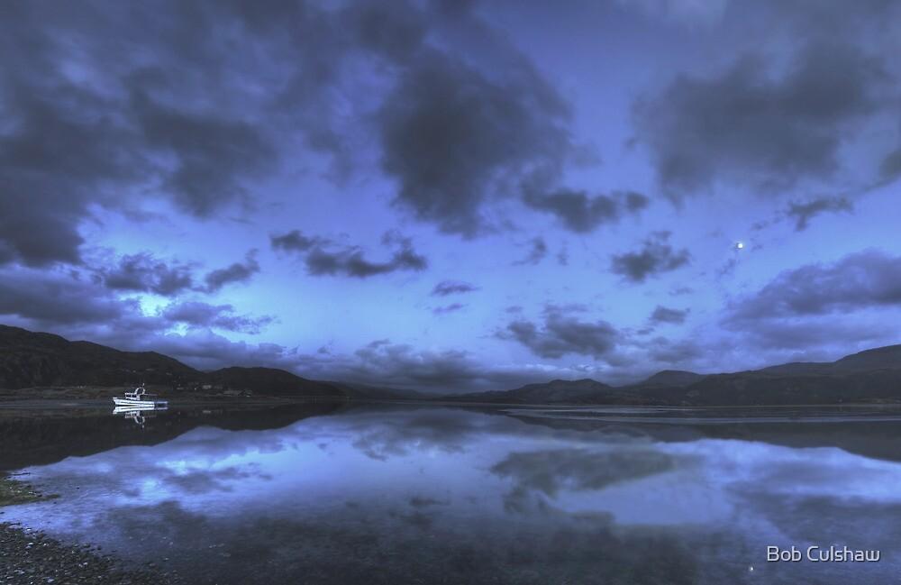 Twilight at Mawddach Estuary, Wales by Bob Culshaw