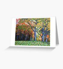 'Autumn Trees Along Bass Lake'  Greeting Card