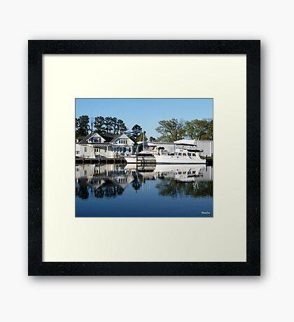 Edenton Marina Framed Print