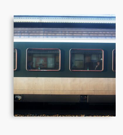 Vevey Station - The Commuters Canvas Print