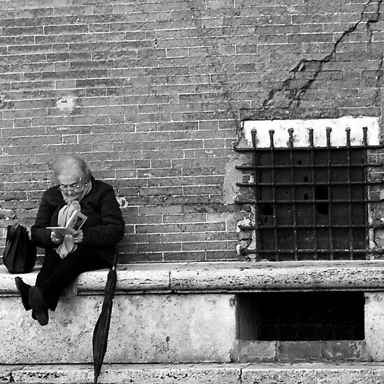 Reading in Siena-Siena, Italy by Deborah Downes