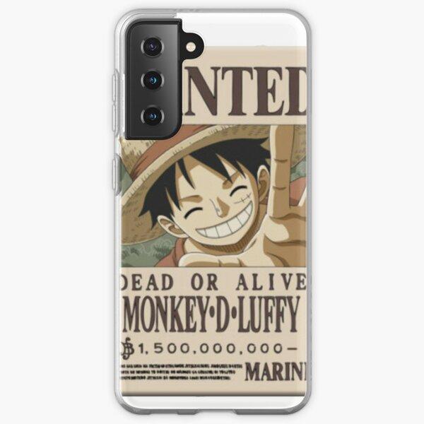 One Piece Luffy Wanted Funda blanda para Samsung Galaxy