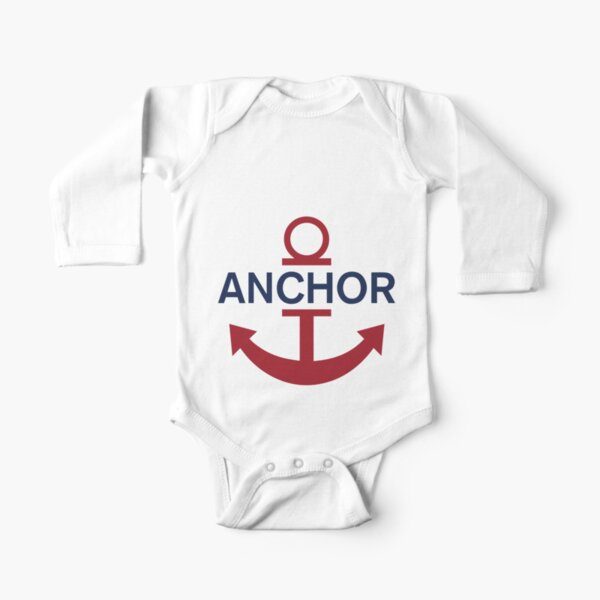 Anchor luffy Long Sleeve Baby One-Piece