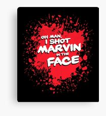 IN THE FACE !!! Canvas Print