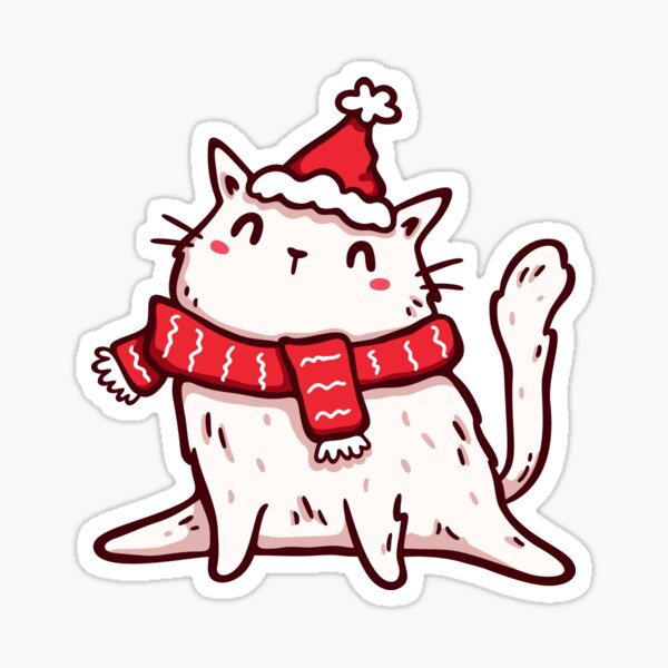 Christmas Kitten v.2 Sticker