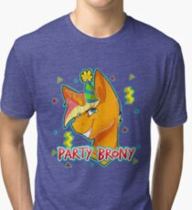 PARTY BRONY - MLP by CCwolfie Tri-blend T-Shirt