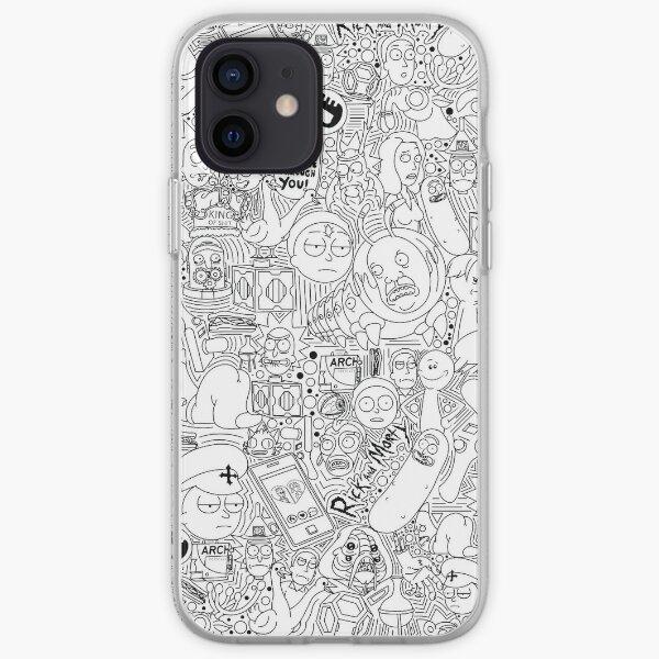 Doodle me Rick y Morty Funda blanda para iPhone