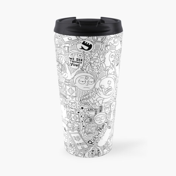 Doodle me Rick and Morty Travel Mug