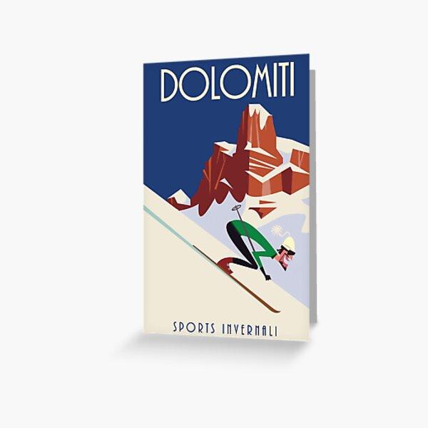 Dolomites poster Greeting Card
