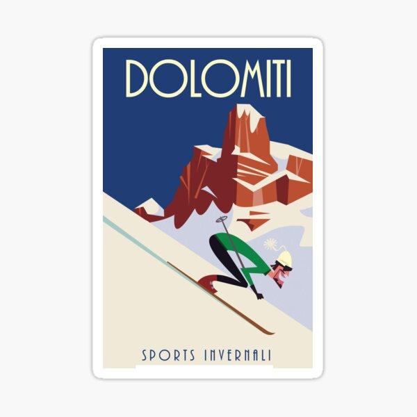 Dolomites poster Sticker