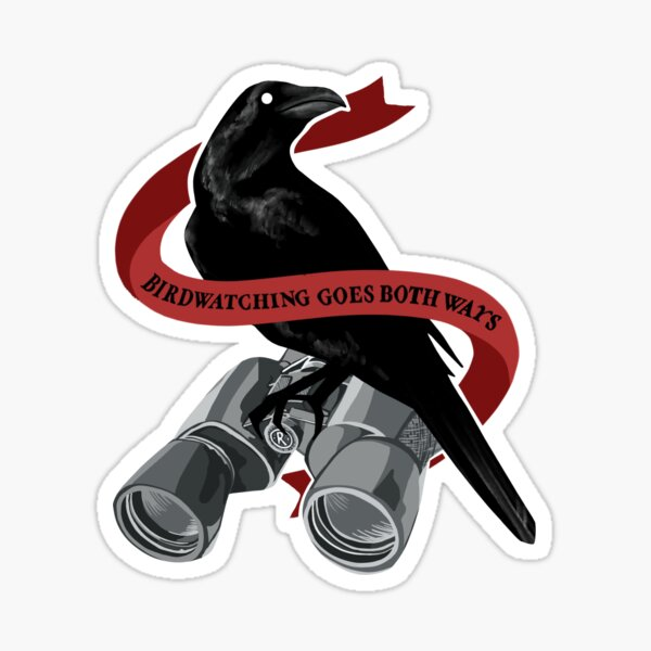 Birdwatching Goes Both Ways Sticker