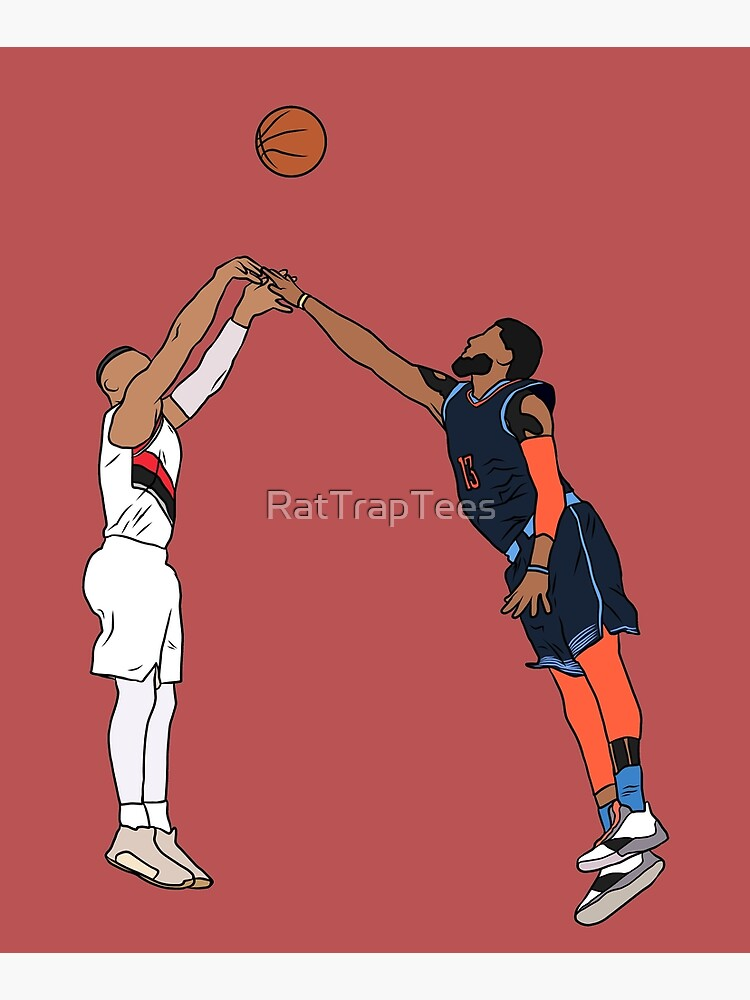 Damian Lillard Game Winner Over Paul George by RatTrapTees