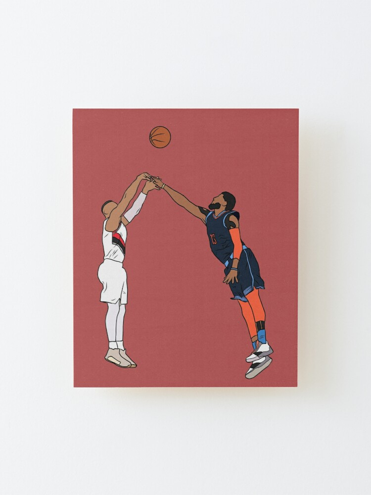 Alternate view of Damian Lillard Game Winner Over Paul George Mounted Print