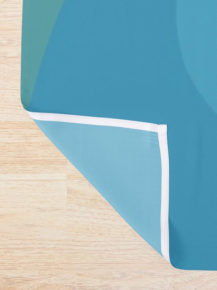 Alternative Ansicht von Nilpferd, geometrisch & minimalistisch Duschvorhang