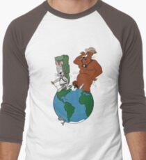 Bear and Rabbit go globetrotting Men's Baseball ¾ T-Shirt