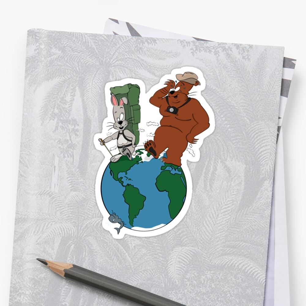 Bear and Rabbit go globetrotting by Peter Zentjens