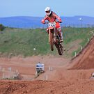 High above the motocross track !! by Fred Taylor