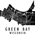 Green Bay Map Sticker by GBSwagShop
