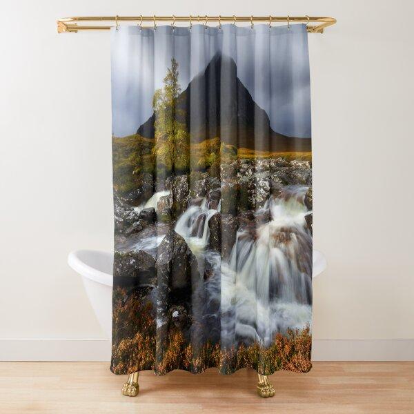 Buachaille Etive Mor Waterfalls Glen Coe Scotland. Shower Curtain