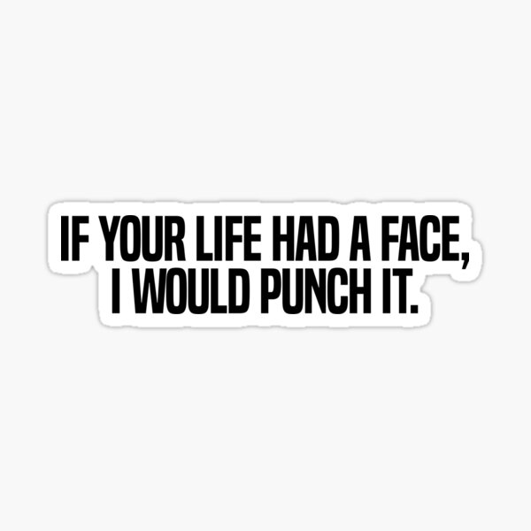 If Your Life Had A Face I Would Punch It Sticker