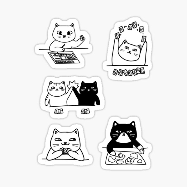 Board Game Cats Sticker Pack Sticker
