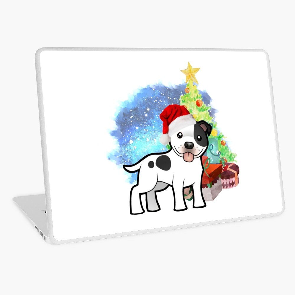 A Staffy Christmas Laptop Skin