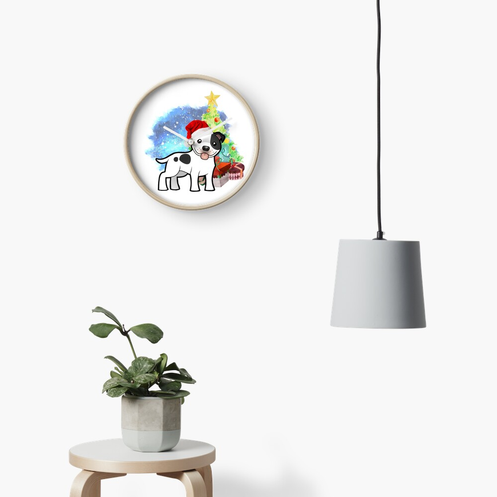 A Staffy Christmas Clock
