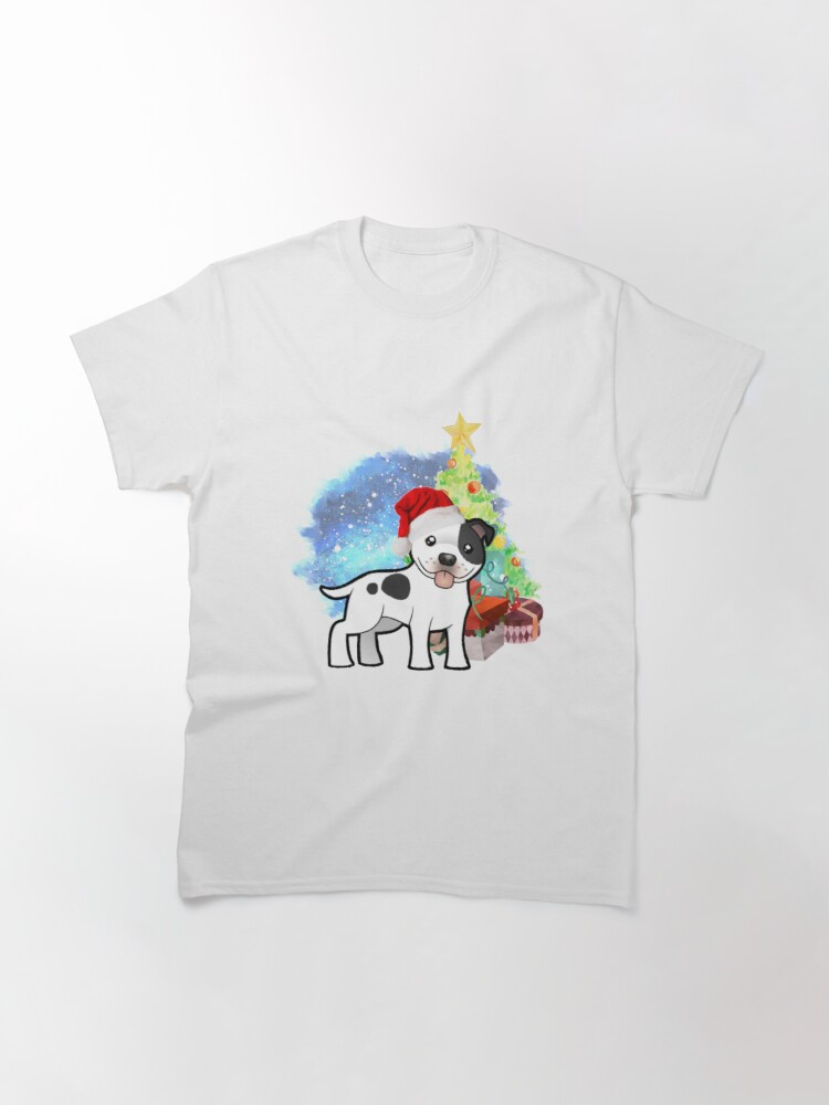 Alternate view of A Staffy Christmas Classic T-Shirt