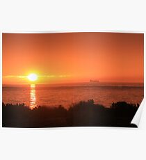 Bay Sunset - Brighton view, Port Phillip Bay Poster