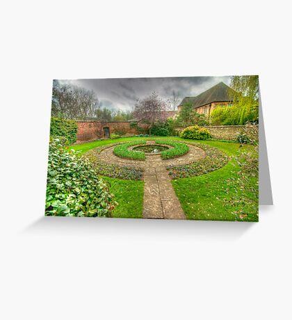 Christ Church Oxford Walled Garden Greeting Card