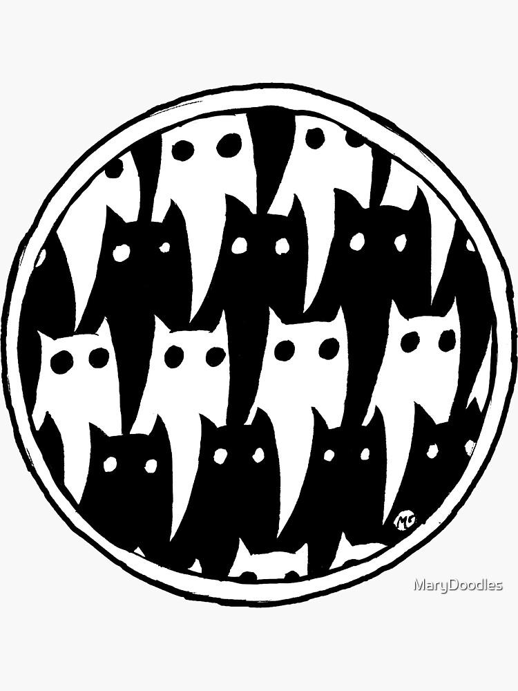 Doodle Cats Doodle Cats Doodle Cats by MaryDoodles