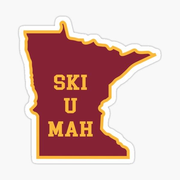 Ski U Mah MN Outline Sticker
