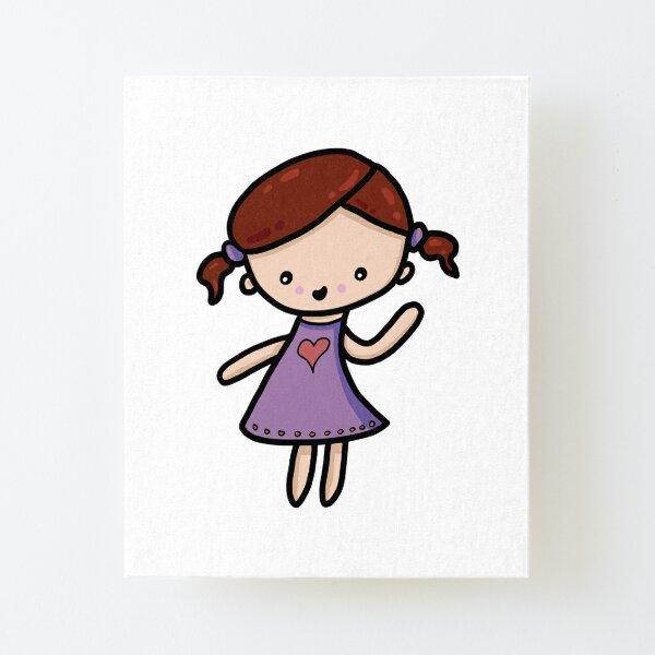 Chibi love girl Canvas Mounted Print