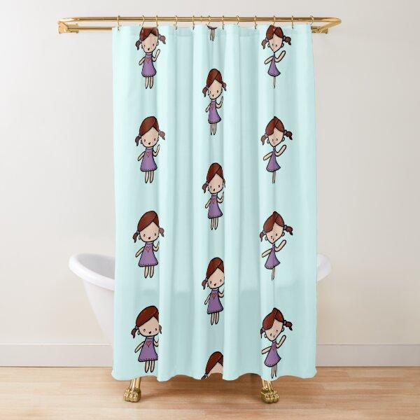 Chibi love girl Shower Curtain