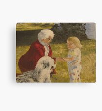 Nellie, Erika and Topper .. oil on canvas '76 Canvas Print