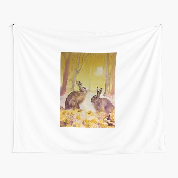 Hares Tapestries Redbubble