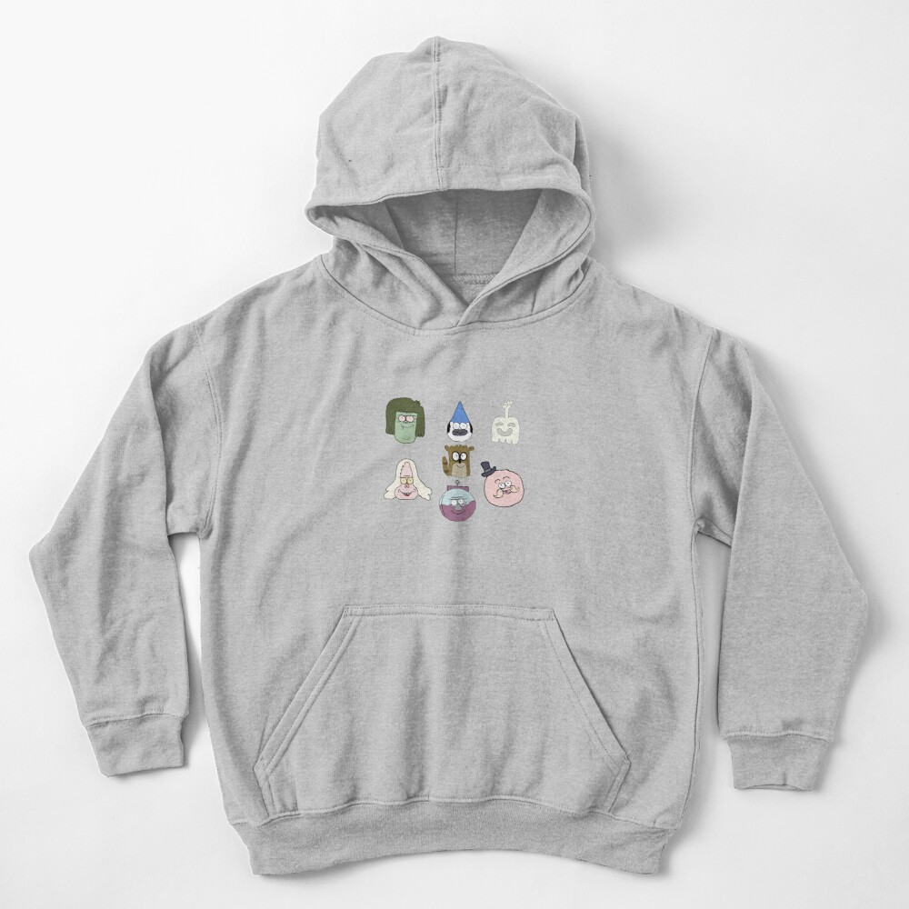 Faces Pattern Regular Show the best Kids Pullover Hoodie