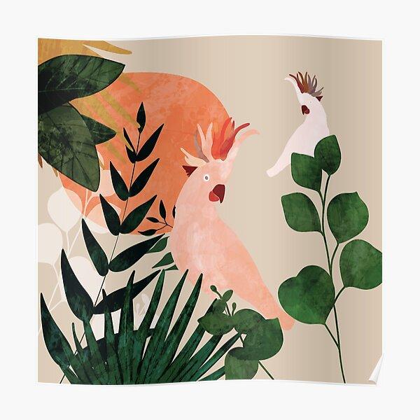 Cockatoo jungle modern Poster