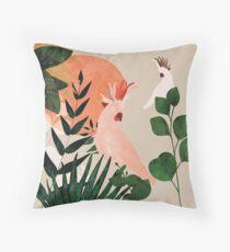 Cockatoo jungle modern Throw Pillow