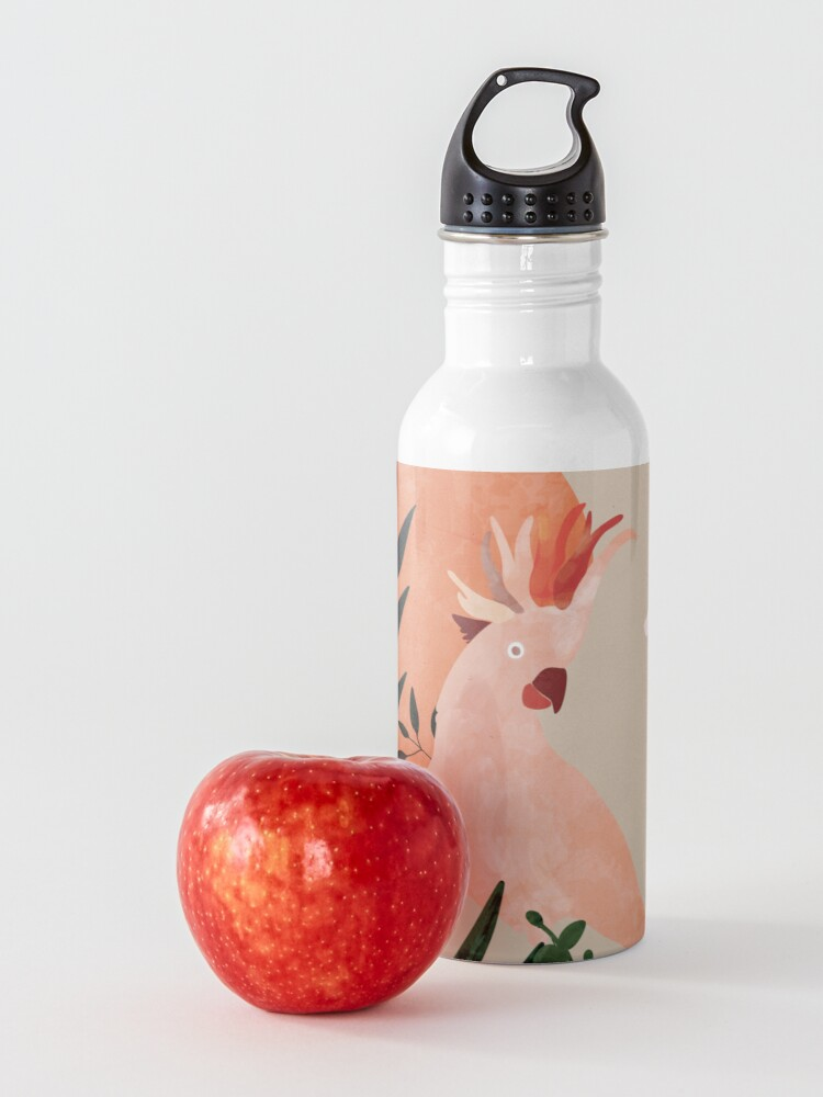 Alternate view of Cockatoo jungle modern Water Bottle