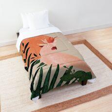 Cockatoo jungle modern Comforter